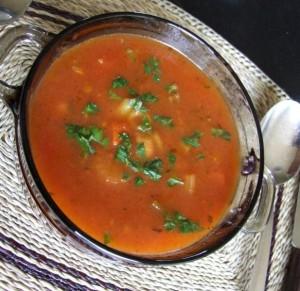 Tomaten groentesoep ala Rosa.